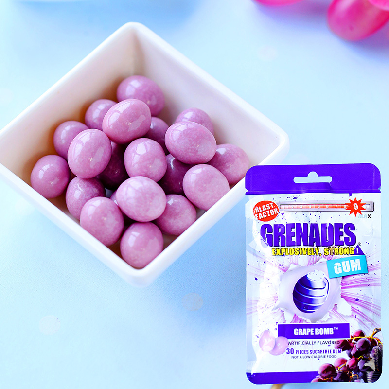Grenades super bombing grape flavored chewing gum explosion chewing gum 60g