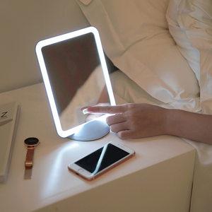 觅萌创意便携充电随心化妆镜台灯 可挂带手机支架化妆补光led灯