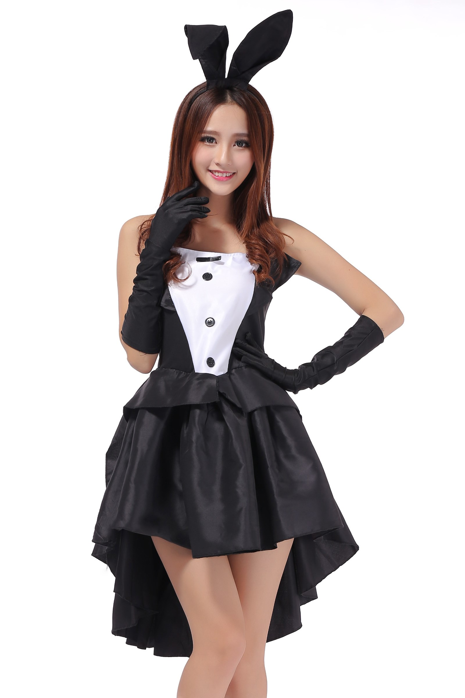 Tuxedo rabbit costume stage costume bunny show dress bar uniform jazz dance package