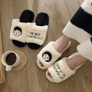 棉拖鞋女冬季居家室内可爱情侣半包跟月子厚底毛拖男冬天2019新款