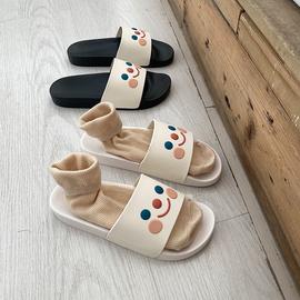韩国个性搞怪卡通可爱居家鞋子女家用室内防滑一字平底拖鞋夏季