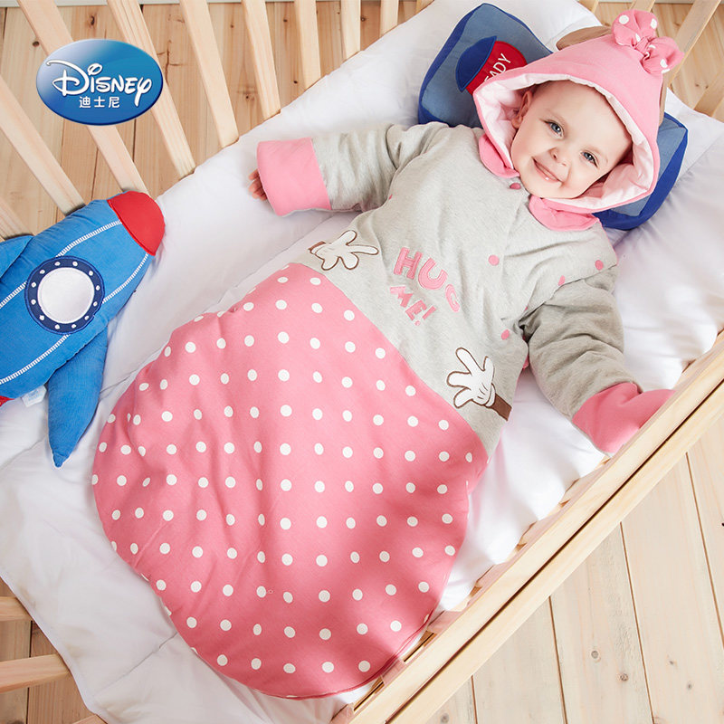 Disney baby sleeping bag spring and autumn and winter anti kick quilt thickened baby four seasons universal newborn childrens pure cotton quilt