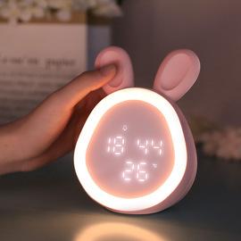 小夜灯智能台灯带时间闹钟充电式儿童房卧室床头睡眠婴儿喂奶护眼