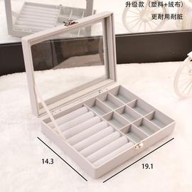 首饰收纳盒少女饰品戒指耳环耳钉项链展示桌面整理欧式防尘收纳架