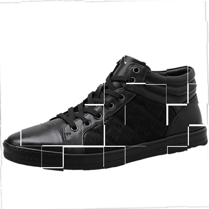 鞋子男正装商务休闲高帮皮鞋男士棉鞋保暖加绒冬季。