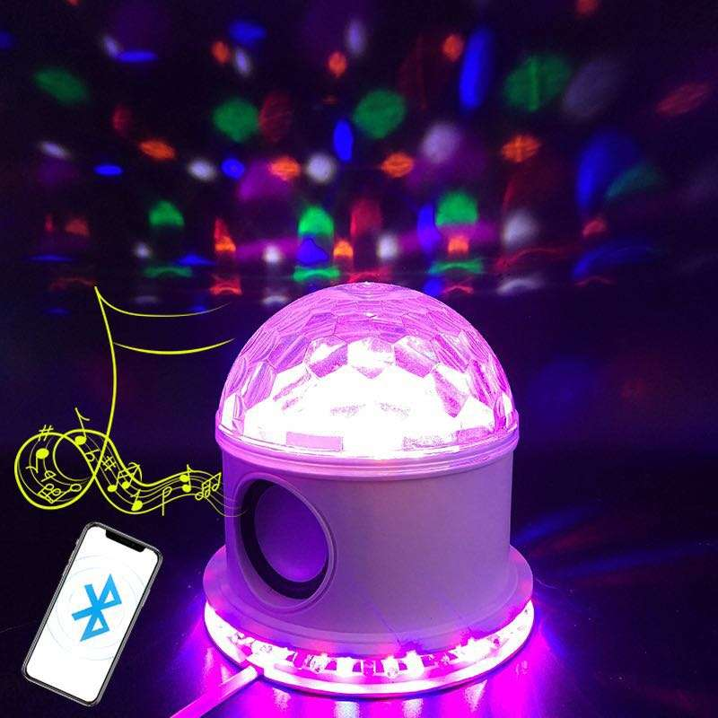 Romantic colorful Bluetooth star lamp stage flying saucer lamp atmosphere light 13 color color changing sound lamp lotus lamp
