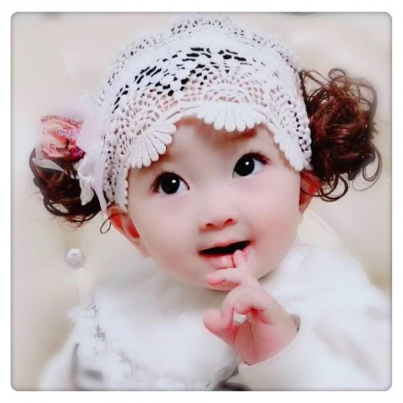 Baby wig simulation baby cute child Princess headdress 2 Girl Wig with 3-year-old spring and summer wig hat