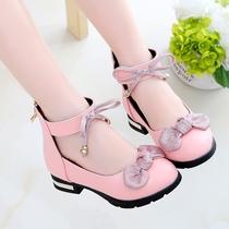 女童公主单鞋3高跟皮鞋秋季5儿童鞋7小孩穿的4-13岁6女孩子秋鞋十