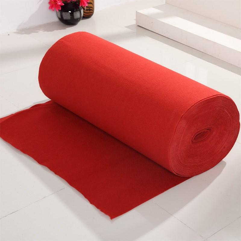 红地毯一次性结婚加厚婚礼舞台展览会开业庆典一次性红地毯店铺用