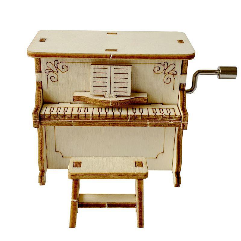 新款木质音乐盒科技小制作手摇钢琴创意DIY手工科学实验玩具