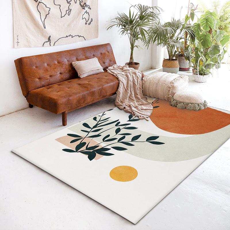 客厅大面积卧室少女床边毯风地垫子