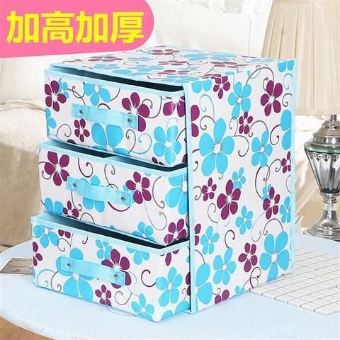 加高内衣收纳盒无纺布抽屉式文胸裤袜收纳整理箱有内格折叠储物箱