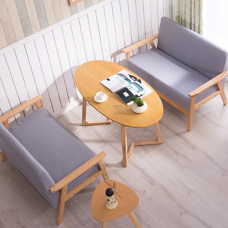 卡座沙发桌椅组合接待服装甜品简约咖啡厅奶茶店餐厅洽谈北欧布艺