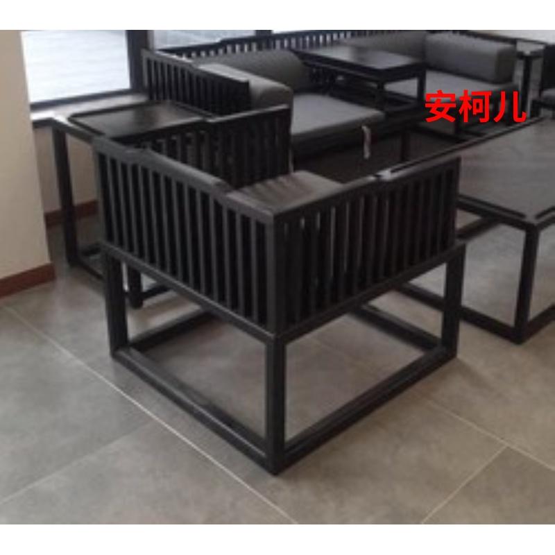 新中式实木卯榫结构沙发罗汉床现代简约禅意茶艺定制家具古典待客热销0件限时2件3折