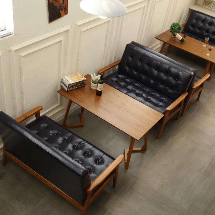 咖啡厅奶茶店沙发组合清吧洽谈桌椅店简约北欧清新办公甜品休闲