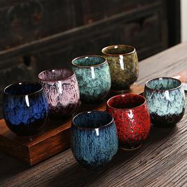 大号窑变主人杯陶瓷品茗杯天目建盏茶盏家用茶碗功夫茶具茶杯单杯