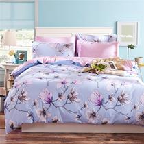 件套4米床笠款床单被套1.5m1.8春夏全棉床品套件简约纯棉四件套