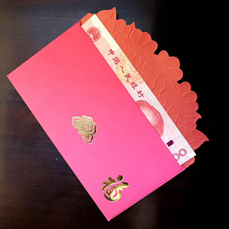 Chinese wedding supplies red envelope bag mail 2021 New Year red envelope creative personality gilded wedding Hong Kong version western style