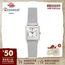 腕表日韩潮流复古个姓方形表盘石英手表正品授权Rosemont