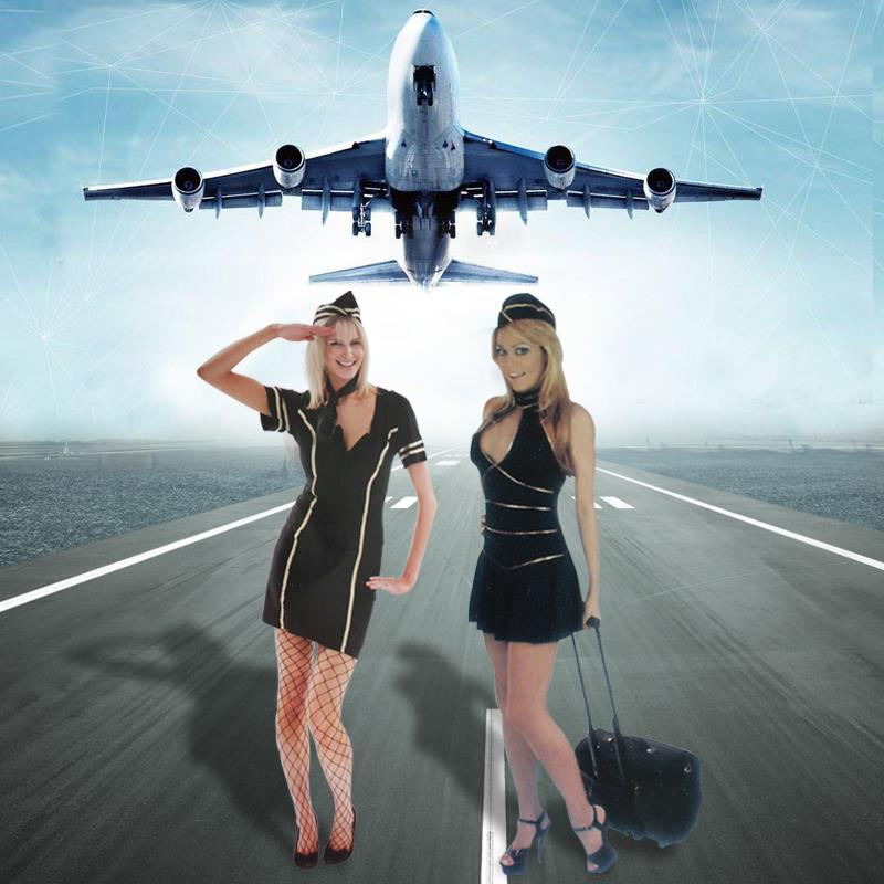 Halloween role play sexy Air Force pilot outfit night club DS stewardess performance costume stage performance Costume