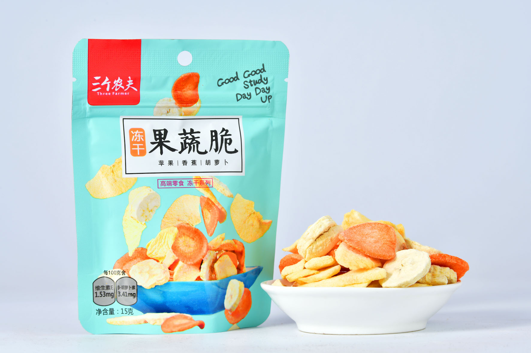 Three farmers freeze-dried fruits and vegetables assorted comprehensive fruits and vegetables dried children nutrition healthy snacks