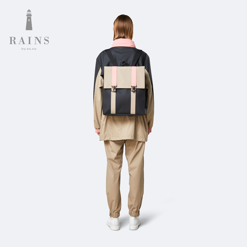 Rains Color Block Msn Bag  防水休闲拼色背包男女通用双肩包