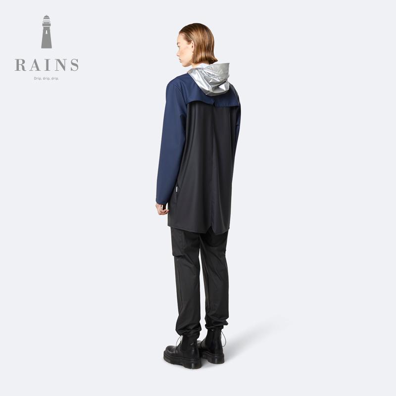 Rains Color Block Long Jacket  防水简约风衣中长款雨衣外套