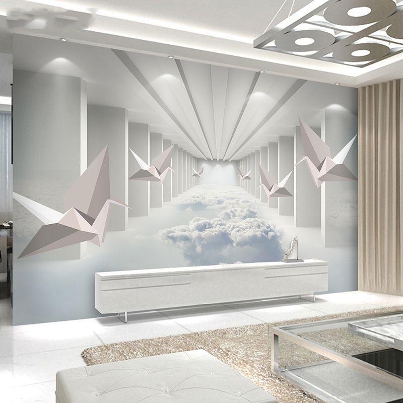 北欧电视背景墙壁纸8d立体壁画简约现代墙布客厅沙发卧室影视墙纸