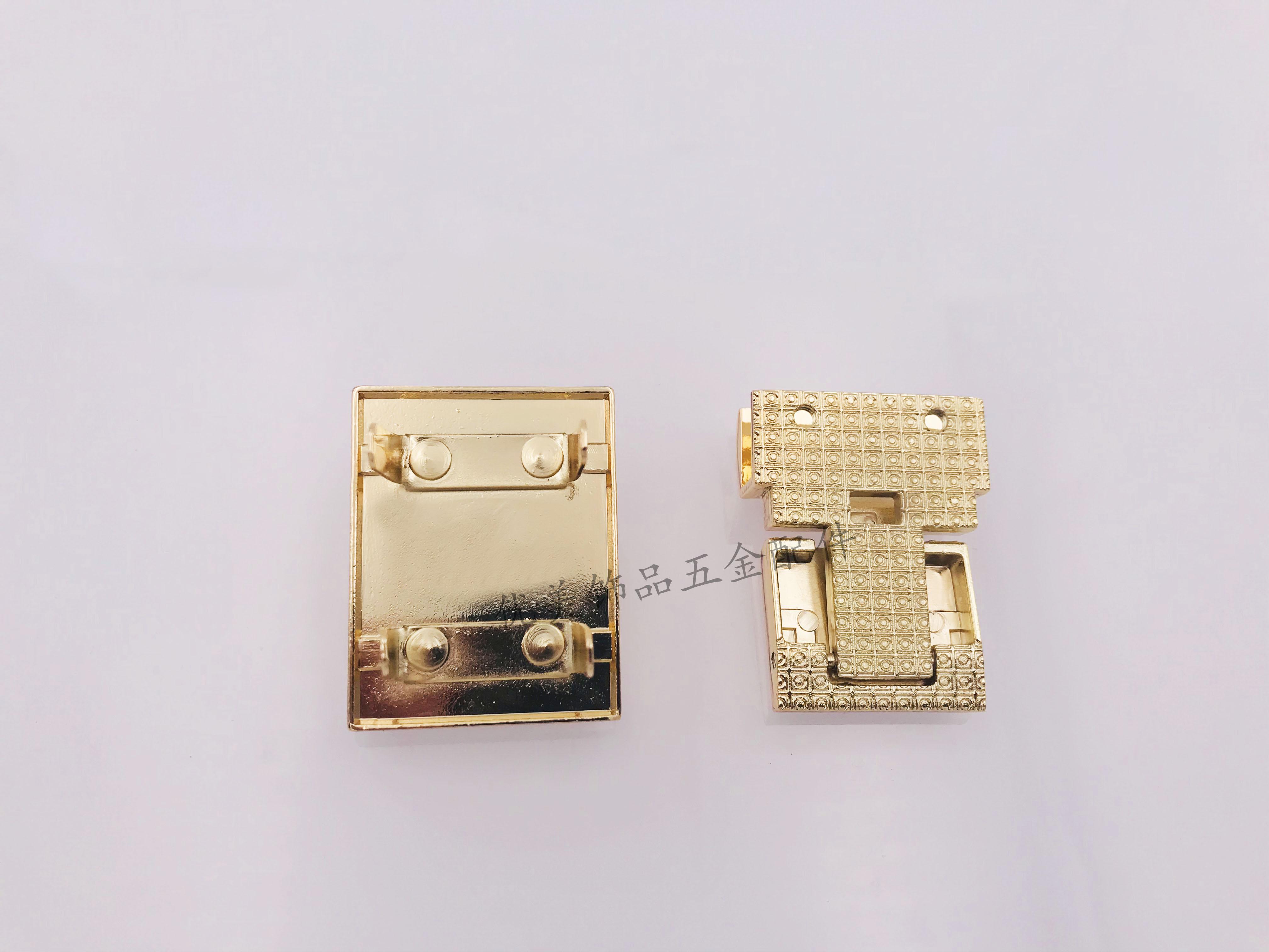 箱包五金锁扣精品DIY修插锁 女包皮具热销手袋金属配件方形插扣