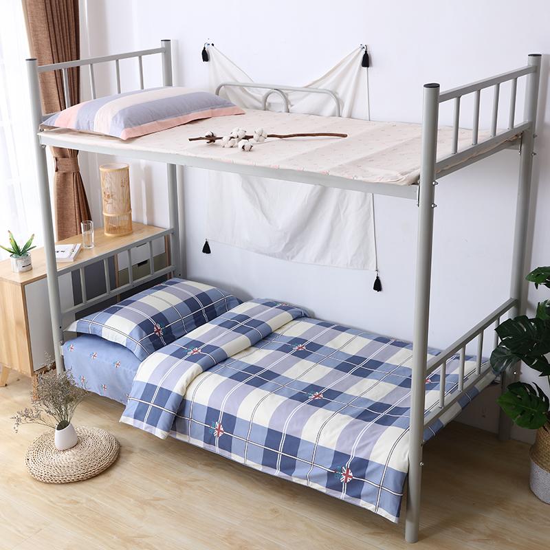 Three piece set of cotton dormitory, single student bedding, bed sheet, cotton quilt set, six piece set