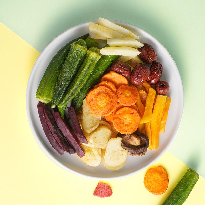 kissport果蔬脆什锦蔬菜水果干混合装综合果蔬脆片香菇脆零食