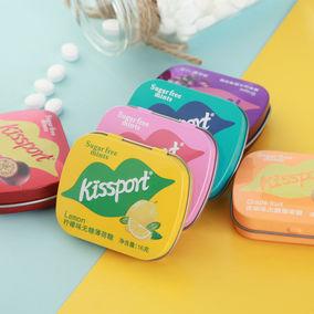 kissport无糖薄荷糖网红创意香体糖接吻糖清新口气口香糖果礼盒装