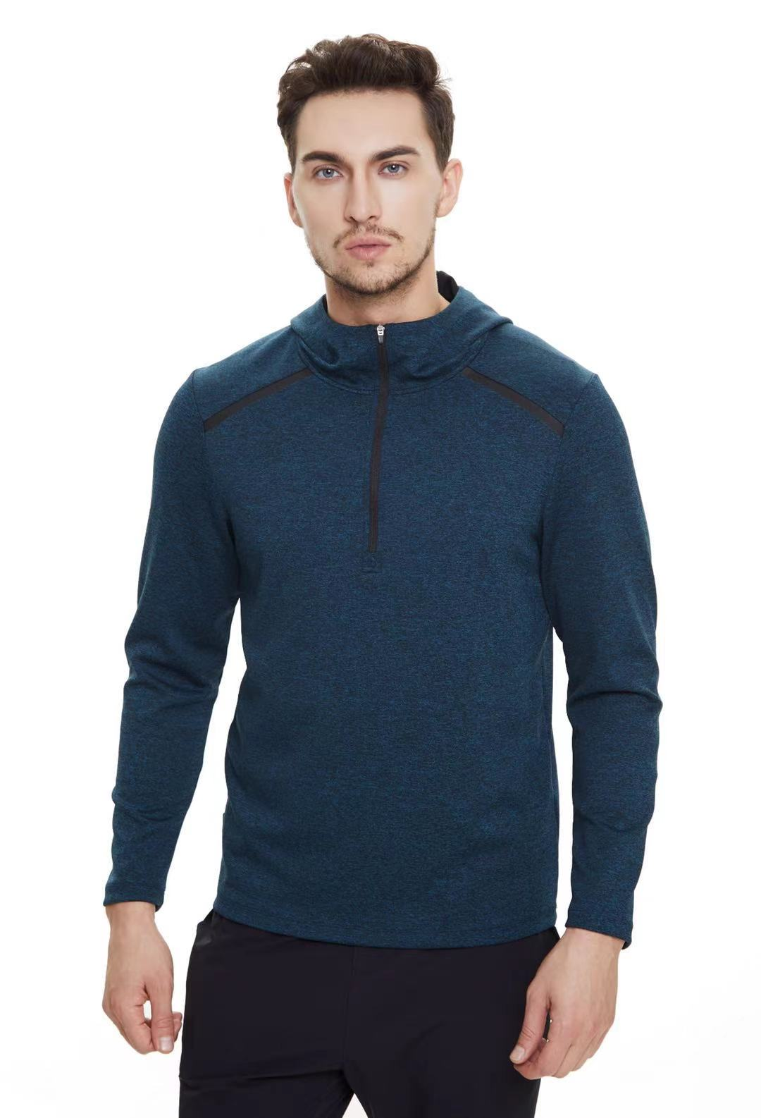 Calvo new 859505 mens fashion casual hooded quick drying breathable sweater sweater
