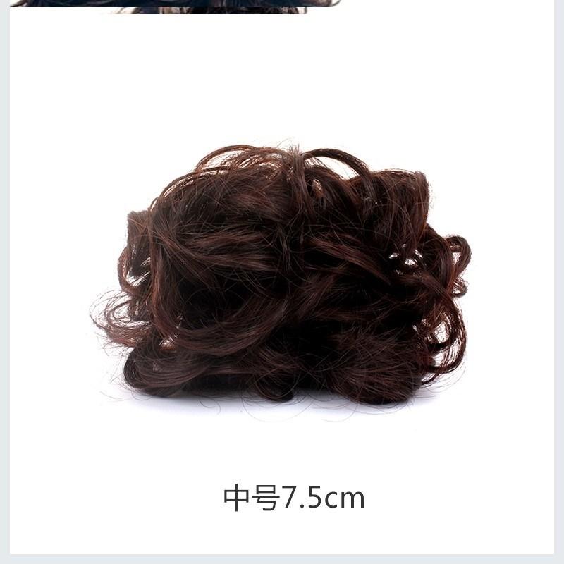 丸子头假发女抓夹头发包高马尾头花女玉米卷发包无痕发卡烫尾辫子