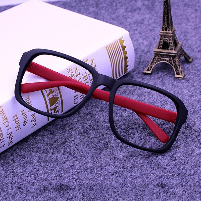 适用方形边框复古男女磨砂全框宽脸眼框眼镜框新款眼镜架个性黑框