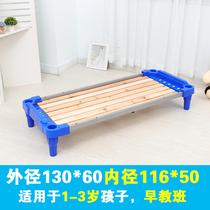 新款幼托2岁4岁5岁3岁6儿童单人午睡床宝宝叠z叠床小床幼儿园床