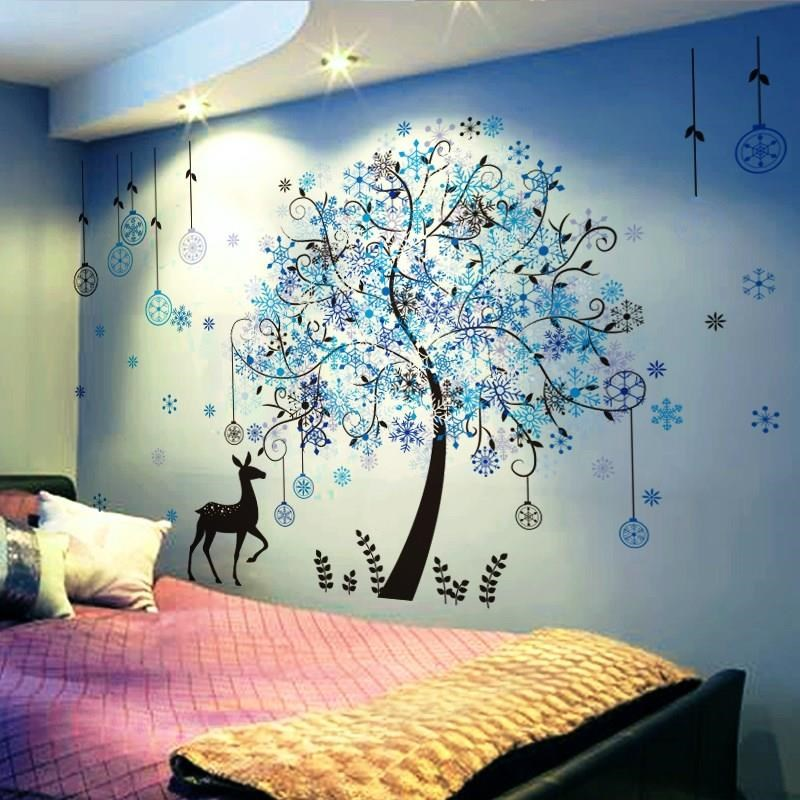 Necklace woman. Stickers decorate single apartment, uncover creative wallpaper, dormitory background, new beauty salon