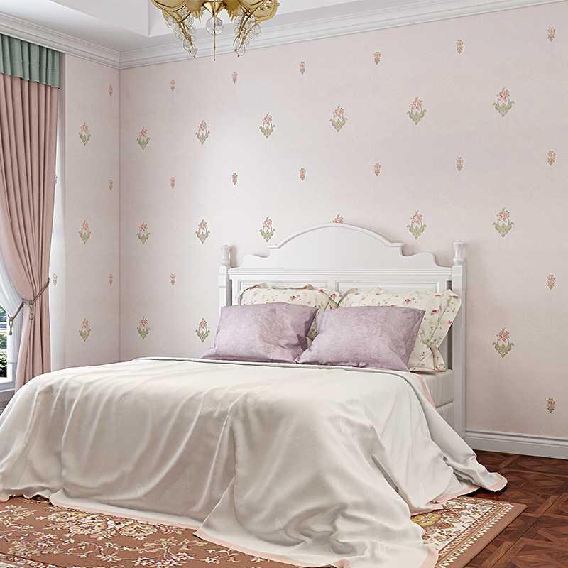 刺绣无缝墙布简约立体温馨婚房卧室客厅沙发电视背景高档环保壁布
