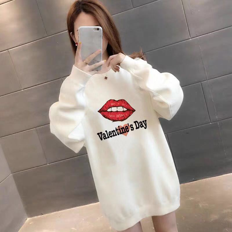 Several kinds of plush medium length sweater womens clothing 2020 new Korean version of fashionable loose skirt autumn and winter thickened coat top for women