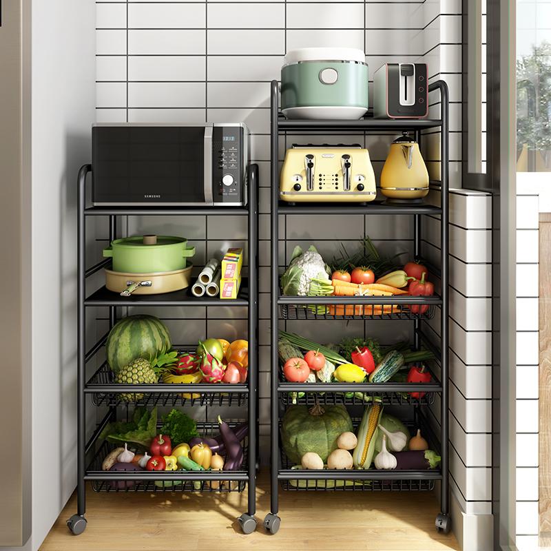 廚房菜籃子置物架落地式多層四層家用果蔬菜收納筐鍋儲物放菜架子