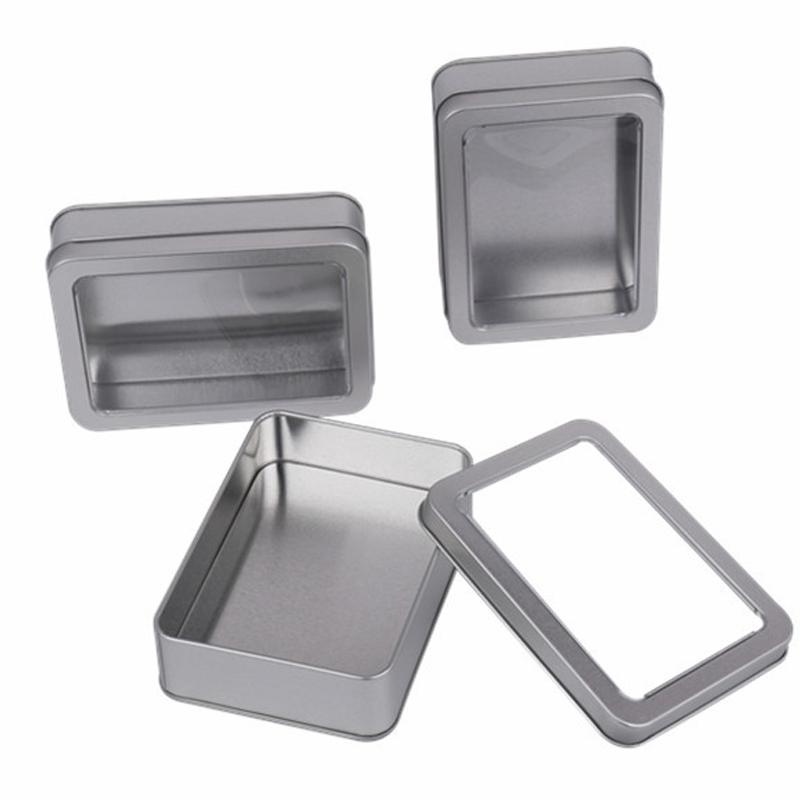 清星包装全开窗马口铁盒收纳盒移动电源礼品盒鼠标磨砂铁金属铝盒