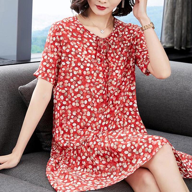 (用78.4元券)反季女2019夏新款大牌小个子连衣裙