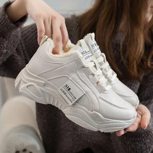 老爹女鞋子2019秋冬新款秋鞋小白运动鞋女跑步鞋ins学生百搭潮鞋
