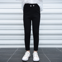 Girls' pants spring 2020 magic pants spring and autumn outside small black pants classic versatile elastic fit middle and big kids