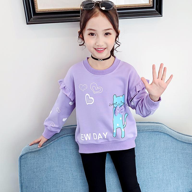 女童秋装打底衫2021新款童装儿童纯棉秋季T恤中大童长袖体恤卫衣