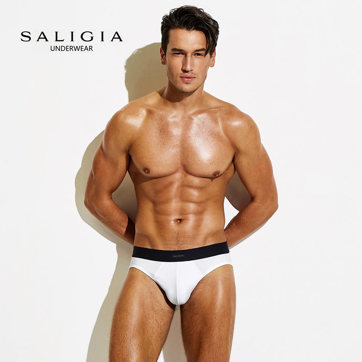 【三件装】SALIGIA 简奢系列男士棉莫代尔三角内裤男80S莫代尔