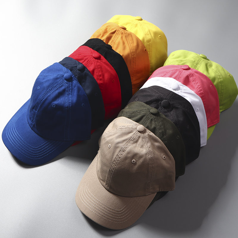 穿衣搭配不可少巴基斯坦棉糖果色男女光板鸭舌帽情侣棒球帽潮帽子