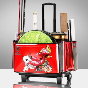 弘日钓鱼拉杆箱硬盖大轮鱼护桶多功能钓箱加厚钓鱼桶装鱼桶渔具包