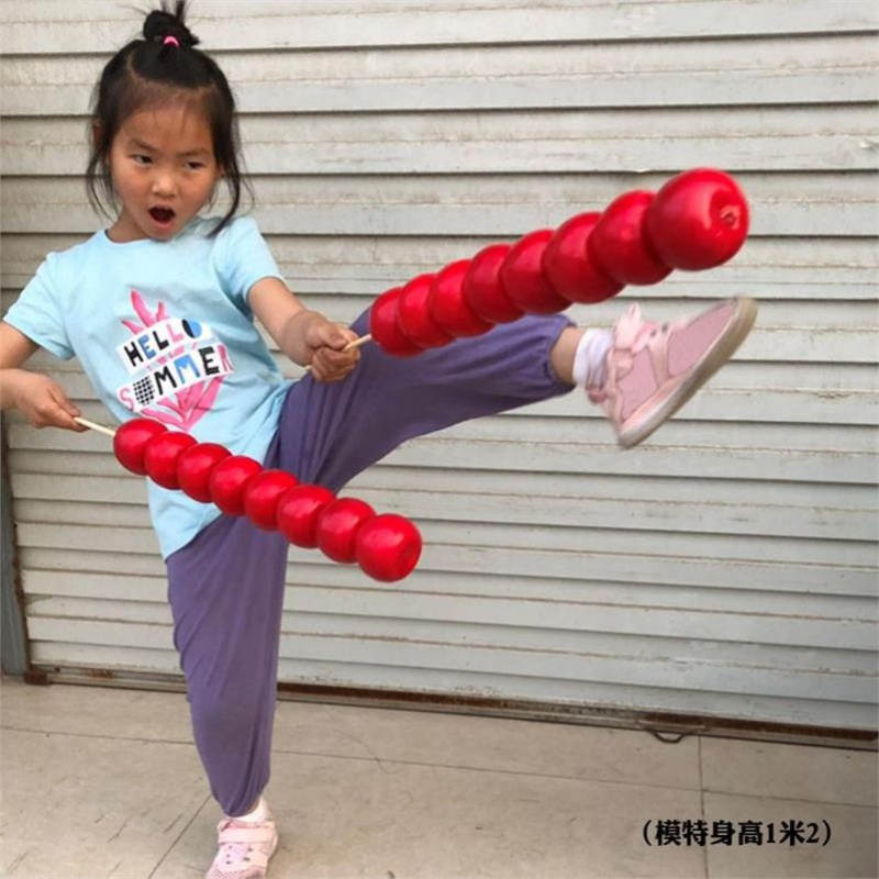 冰糖葫芦串装道具仿模型真假样品山楂舞台婚纱写真幼儿园新年红火