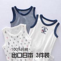 夏季宝宝跨栏背心内穿儿童薄款纯棉男童外穿新款砍袖小背心透气